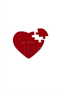 Heart Plastic Puzzle