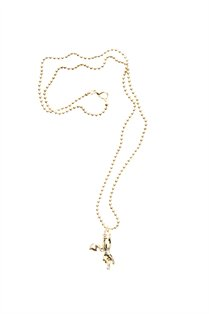 Crossed Fingers Necklace