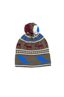 Acrylic Holiday Pom Pom Hat