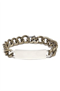 Mixed Metal Two Tone ID Bracelet