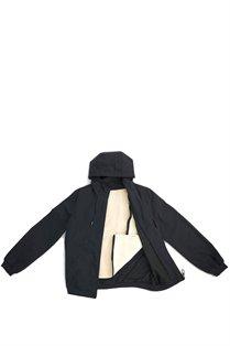 Oil Cloth Hoodie$295  Waxed cotton zip up hoodie w