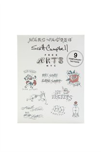 Scott Campbell Temporary Tattoo Pack