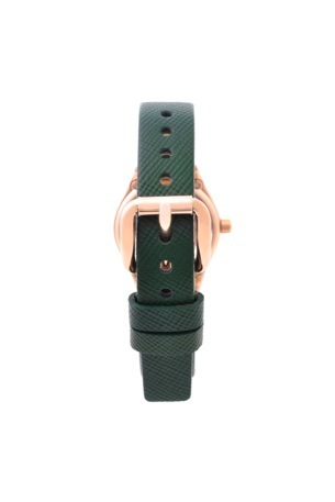tether 25 rose gold green strap