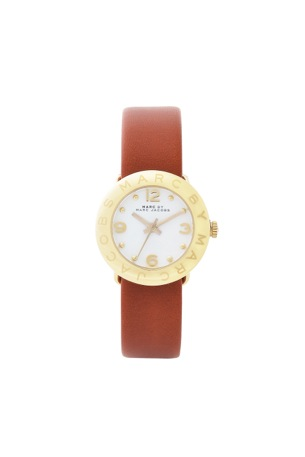 mini amy gold tan strap