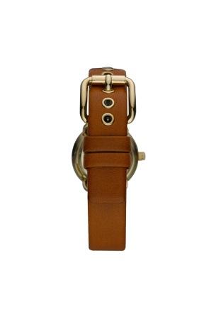 mini amy gold tan strap