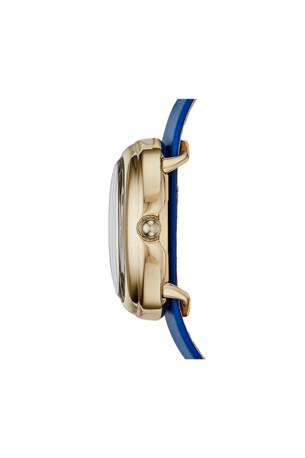 oval 31x21 ion plating gold blue strap